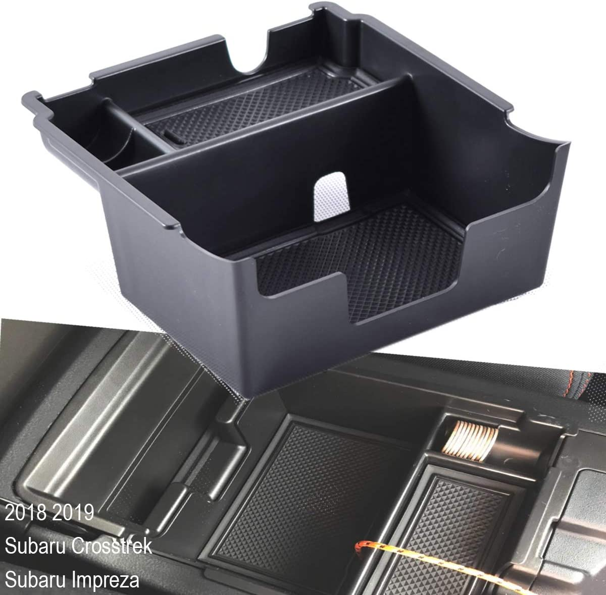 EDBETOS Organizer for Subaru Crosstrek Subaru Impreza 2018 2019 Center Console Armrest Organizer Accessories Tray Armrest Box Secondary Storage 4350410838