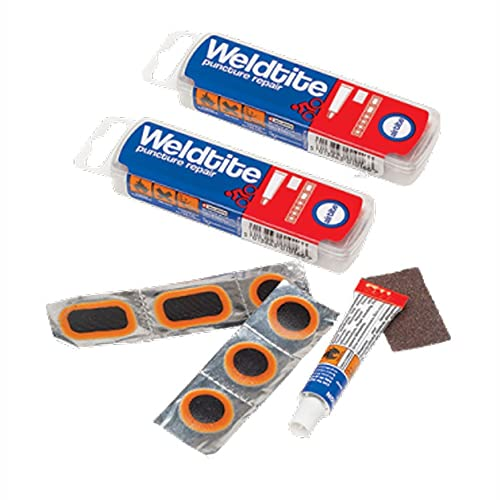 2 x Weldtite Puncture Repair kit 4 Road Bike Cycle 700c Inner Tubes by Weldtite