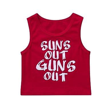 1c8b41947 Wanshop Cute Kids Baby Letter Print Vest Boys Girls Sleeveless T Shirt  Blouse Tops for 0