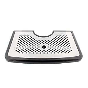 Bar Drip Tray – Stainless Steel and Plastic Tray with Non Slip Rubber Grip, Large Drip Tray for Beverage Dispenser