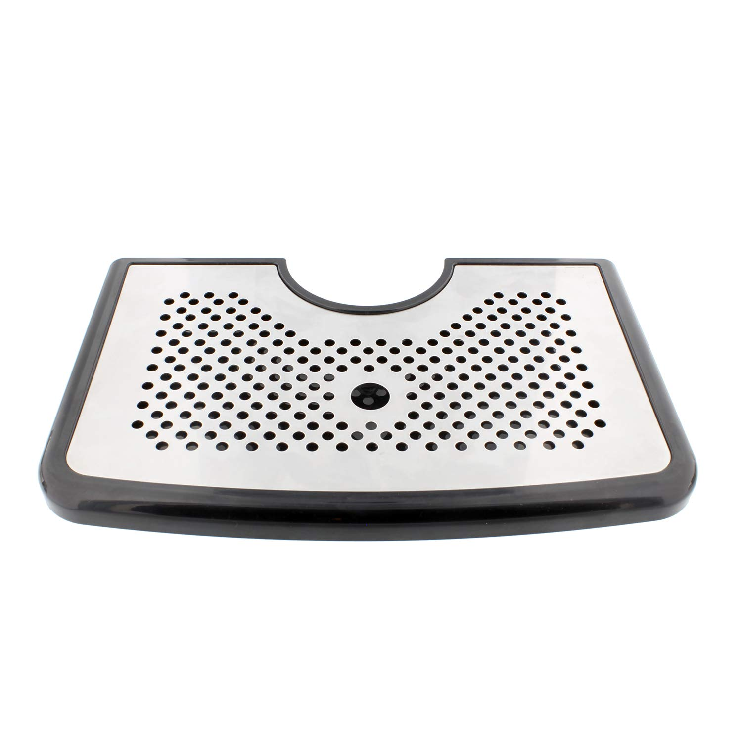 Bar Drip Tray - Stainless Steel and Plastic Tray with Non Slip Rubber Grip, Large Drip Tray for Beverage Dispenser