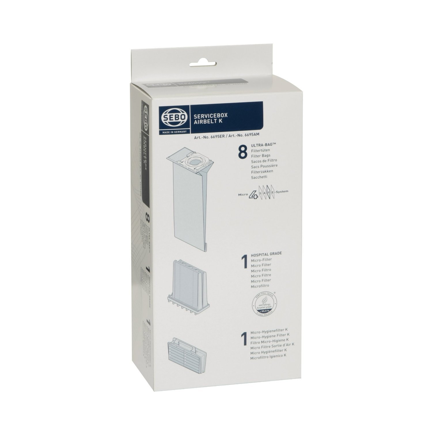 Service Box - 8 Four-Layer Ultra Bags and Micro and Exhaust Filters for AIRBELT K Series