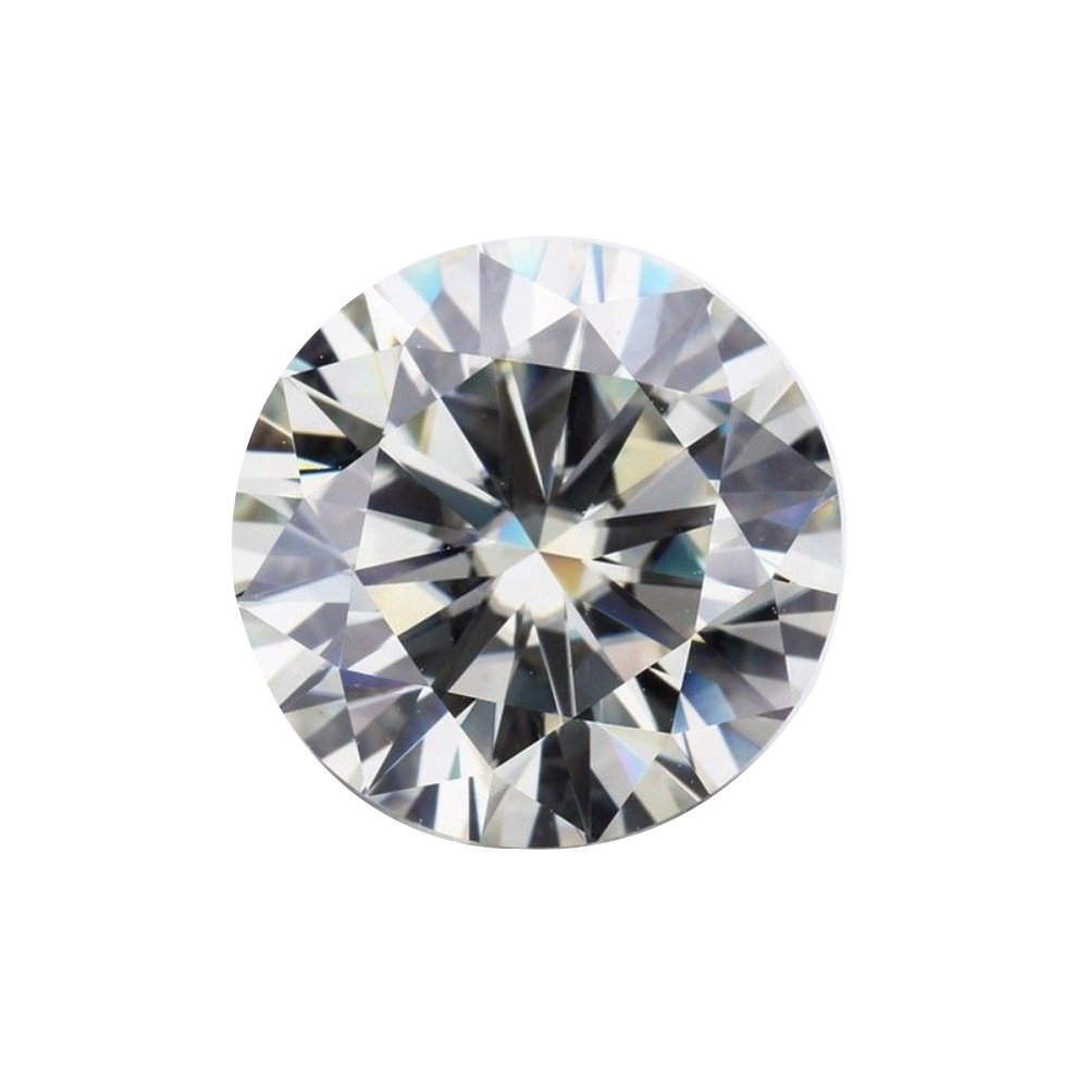 3.50Cts Moissanite DEF Colorless Loose Gemstone Round Brilliant Cut VVS1 Clarity 9.50MM