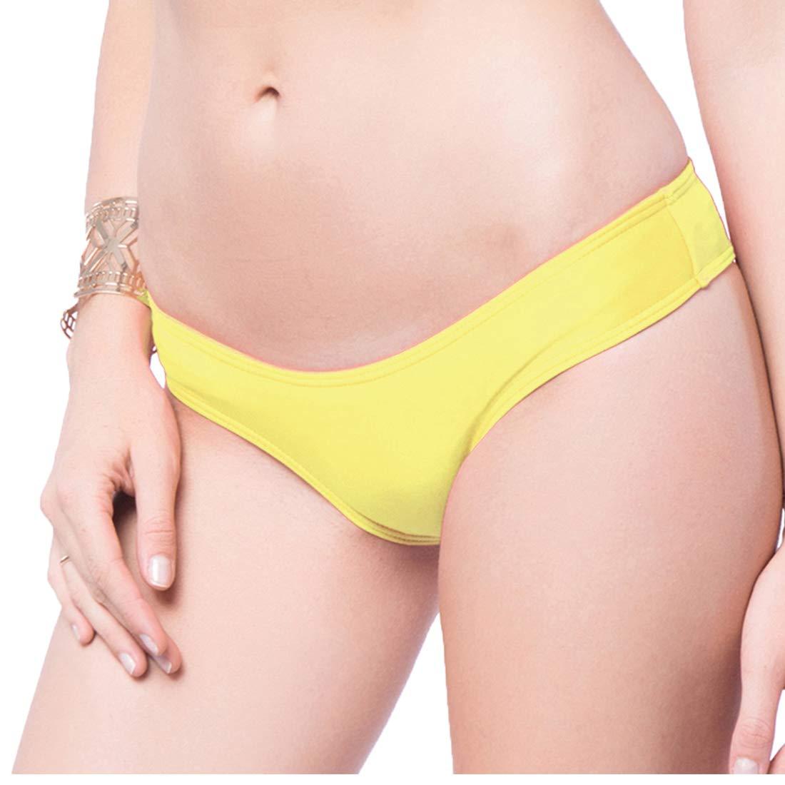 200b5f033ea2 Braguitas Tangas Parte Inferior Traje de baño Mujer Alta Elasticidad Color  Sólido Talla Grande Colores Varias Bikini Vendaje850840
