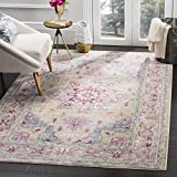Safavieh Claremont Collection CLR664D Grape and Blue Area Rug (3'3 x 5'3) For Sale