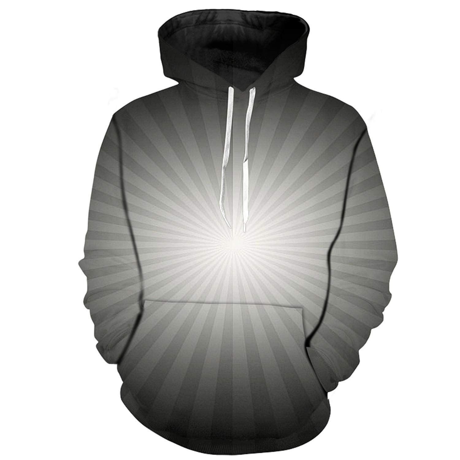 nayingying 3D Hoodies Hombres Sudaderas Con Capucha Galaxia Nebulosa 3D Streetwear