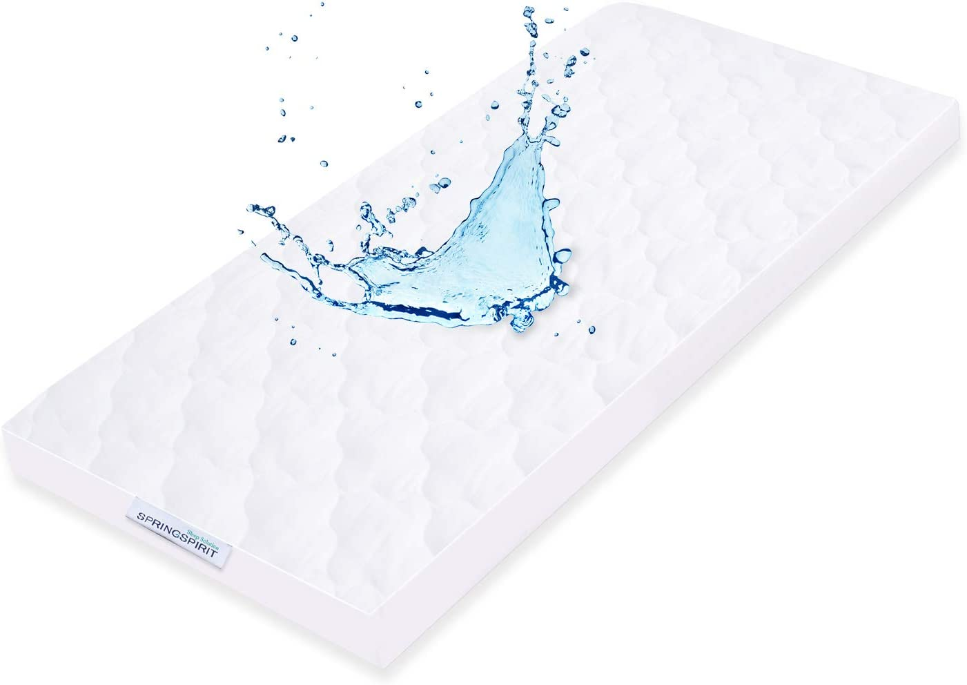 Ultra Soft /& Hypoallergenic,White 92x52cm Quilted Cocona Crib Mattress Cover Waterproof Mattress Protector