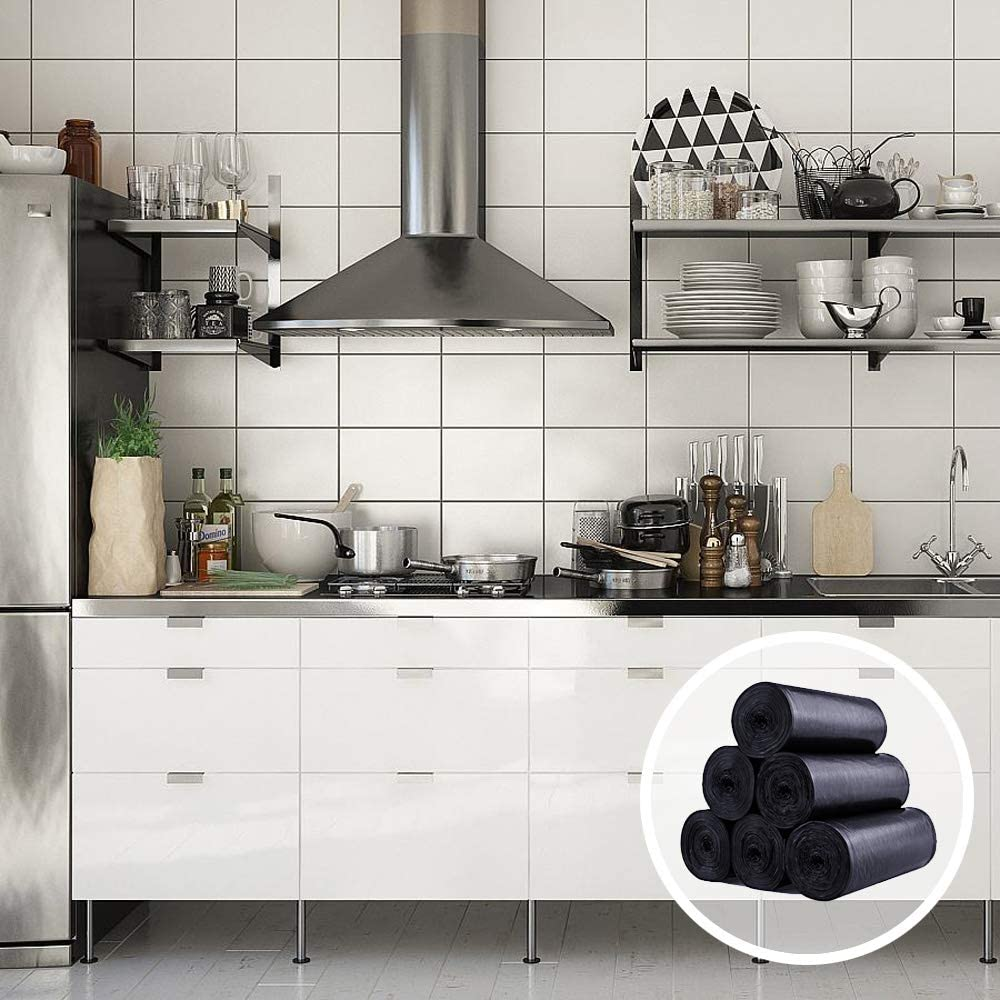 Pack de 120 Bolsas de basura Pequeña, 10L Bueno para Hogar, cocina, sala de estar y oficina: Amazon.es: Hogar