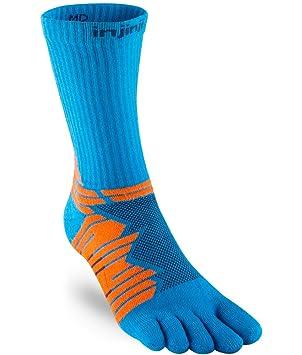 Injinji Socks Rendimiento Ultra Run Crew Calcetines Para Correr Azul - Azul, Small