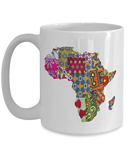 71922561cbd Image Unavailable. Image not available for. Color: African Mug With Ankara  And Map ...