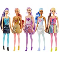 Barbie Color Reveal Doll with 7 Surprises [Styles May Vary]: 4 Mystery Bags; Water Reveals Doll's Look & Color Change on…