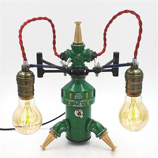Lámpara de escritorio Industrial Retro Doble Cabeza E27 Creativo ...
