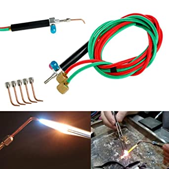Top Jewelry Gas Torch Welding Soldering Little Torch Full W// Hoses /& 5 Tips T ix
