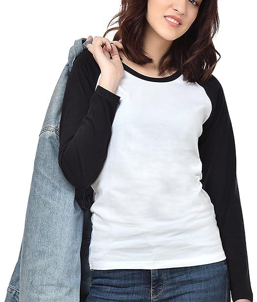 best meet footwear NEEVOV Women's Raglan T-Shirt Full Sleeve