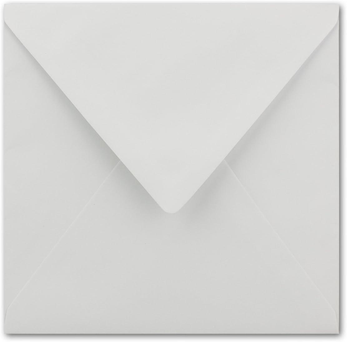 F/ür Hochzeits-Karten Serie FarbenFroh/® 15,5 x 15,5 cm Quadratische Brief-Umschl/äge ohne Fenster in Dunkelgr/ün Nassklebung 75 St/ück Einladungskarten und mehr