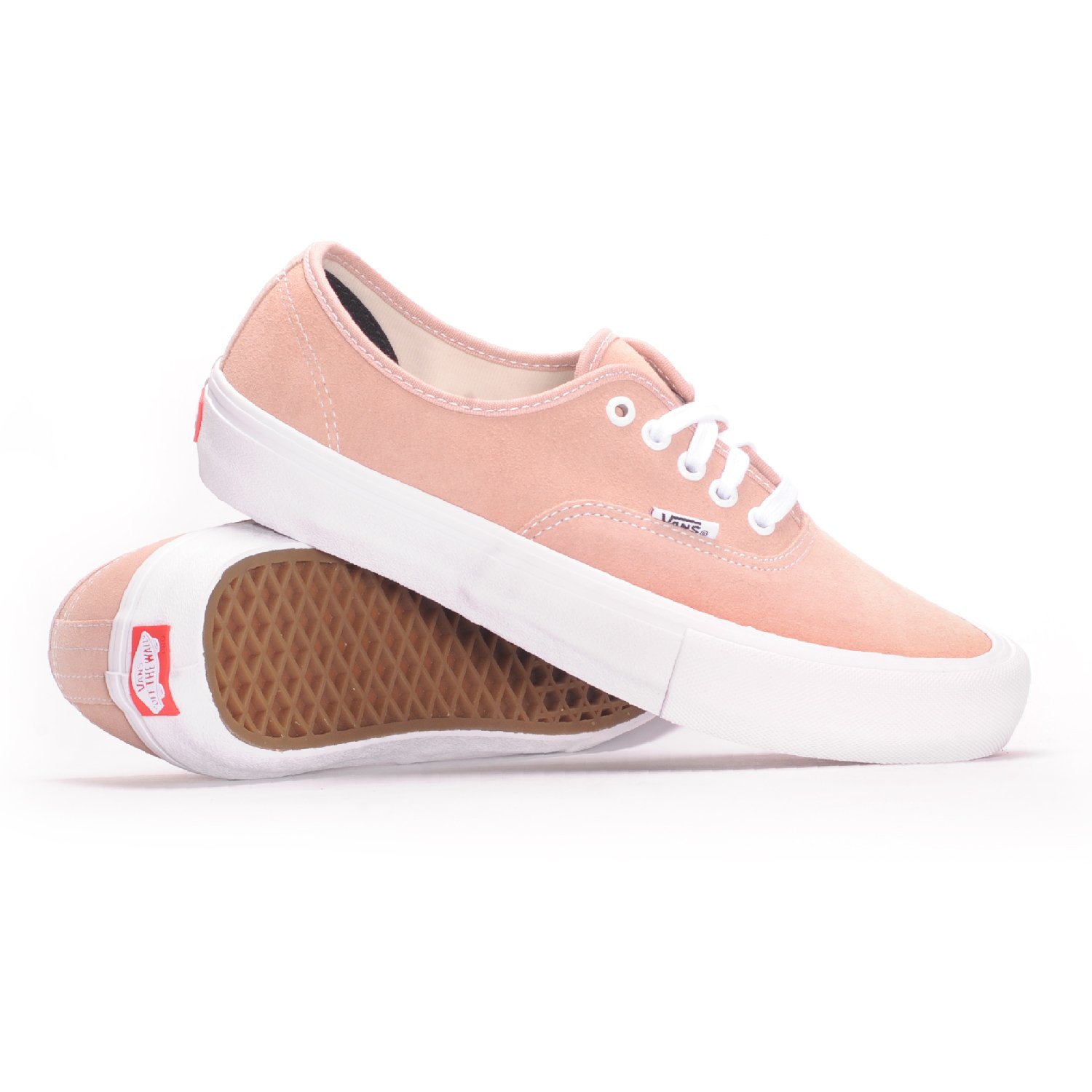 Vans Authentic Pro (Mahogany Rose/White) Men's Skate Shoes-11.5