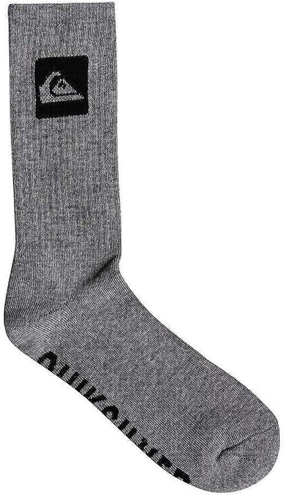 Quiksilver 3 Crew Pack Socks One Size Light Grey Heather