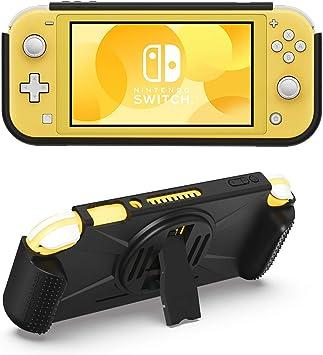 MoKo Funda Compatible con Nintendo Switch Lite, Cubierta Durable TPU con Soporte Trasera, 2 Bolsillo de Juego Tarjeta y Asa Antideslizante de Juego, para Consola Nintendo Switch Lite: Amazon.es: Electrónica