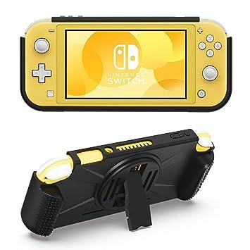 MoKo Funda Compatible con Nintendo Switch Lite, Cubierta Durable TPU con Soporte Trasera, 2 Bolsillo de Juego Tarjeta y Asa Antideslizante de Juego, ...