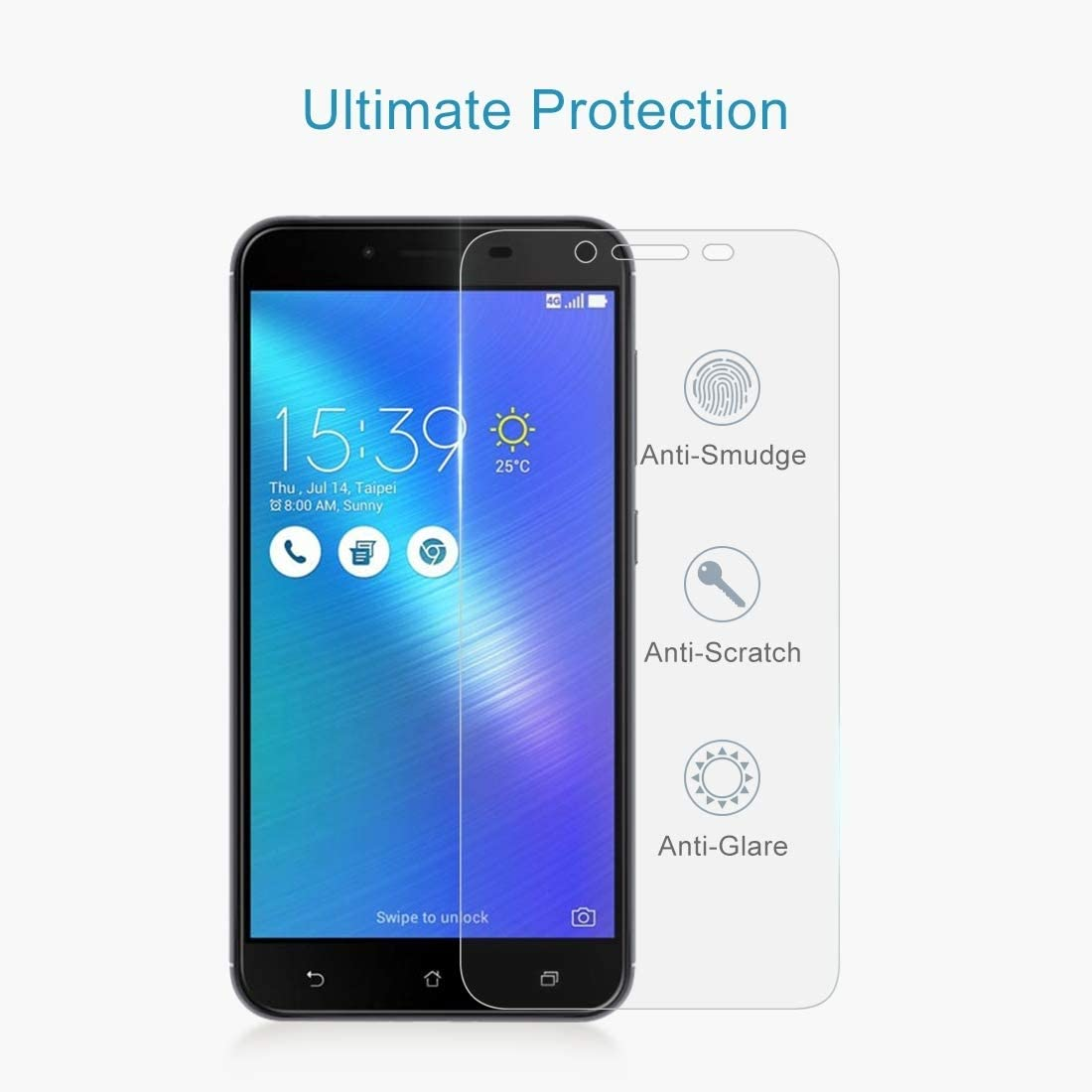 GUOHUN Screen Protector Protective 100 PCS 0.26mm 9H 2.5D Tempered Glass Film for Asus ZenFone 3 Max ZC553KL Glass Film