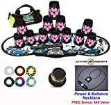 Speed Stacks Combo Set ''The Works'': 12 PINK HAWAIIAN 4'' Cups, REBEL MUDD Gen 3 Mat, G4 Pro Timer, Cup Keeper, Stem, Gear Bag, 6 Snap Tops + Active Energy Necklace