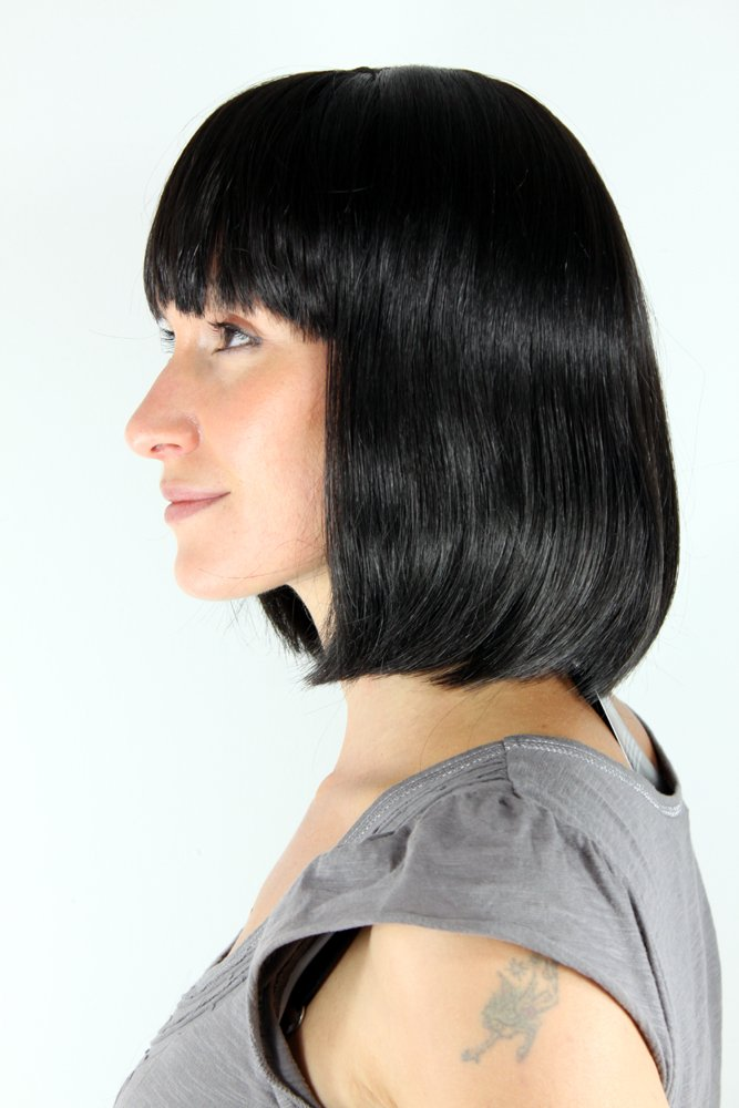 WIG ME UP ® - Peluca, negro, estilo Mia de Pulp Fiction (7803-2): Amazon.es: Belleza