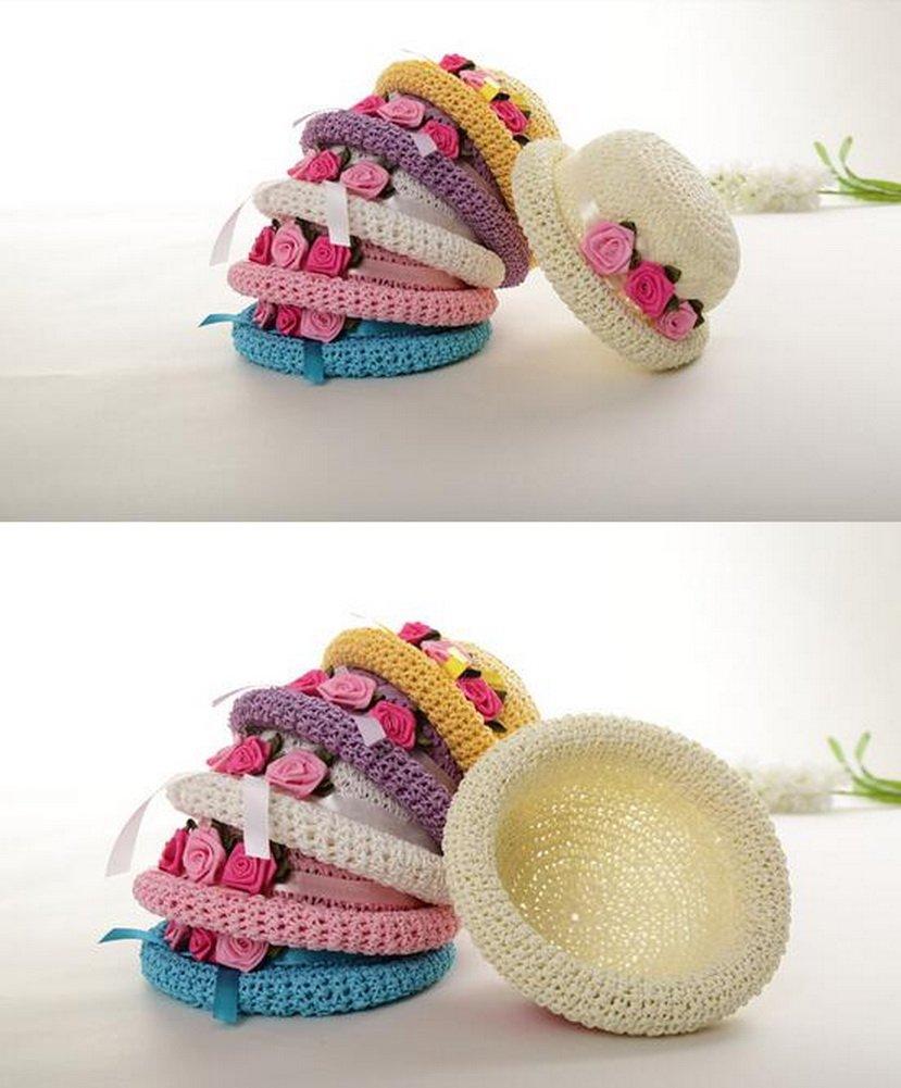 Sombrero de - sol con playa de tres flores] Sombrero de paja de la ...