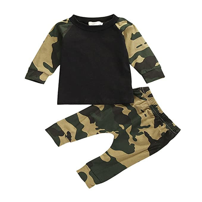 9c60634c73b1 Chic-Chic Baby Boys Toddler Camouflage Long Sleeve T-Shirt ...