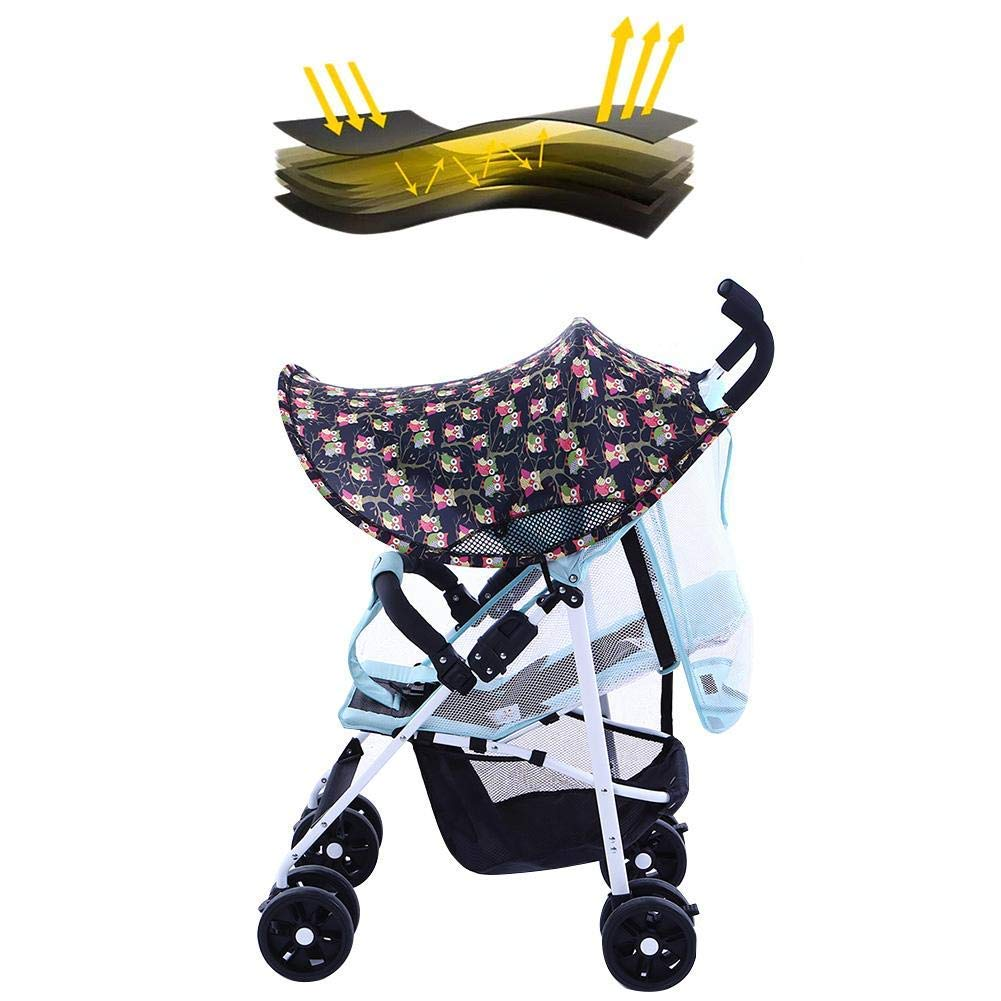 ZLMI Pushchairs Sunshade Universal Stroller Cover Anti-UV Pushchair Parasol Cover Buggy Sun Shade Cover (Blocks 99 UV),A by ZLMI (Image #2)