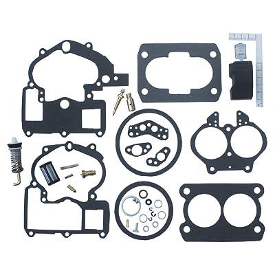KIPA Carburetor Repair Rebuild Kit For Mercruiser Marine 2 Barrel Rochester Carburetor with FLOAT 3302-804844002# 1389-9562A1 1389-9563A1 1389-9564A1 1389-9670A2 1389-806077A2 1389-806078A2: Automotive
