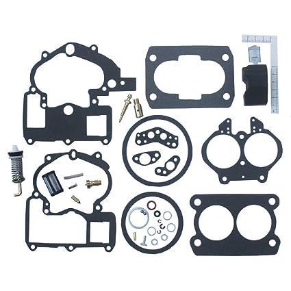 KIPA Carburetor Repair Rebuild Kit For Mercruiser Marine 2 Barrel Rochester  Carburetor with FLOAT 3302-804844002# 1389-9562A1 1389-9563A1 1389-9564A1