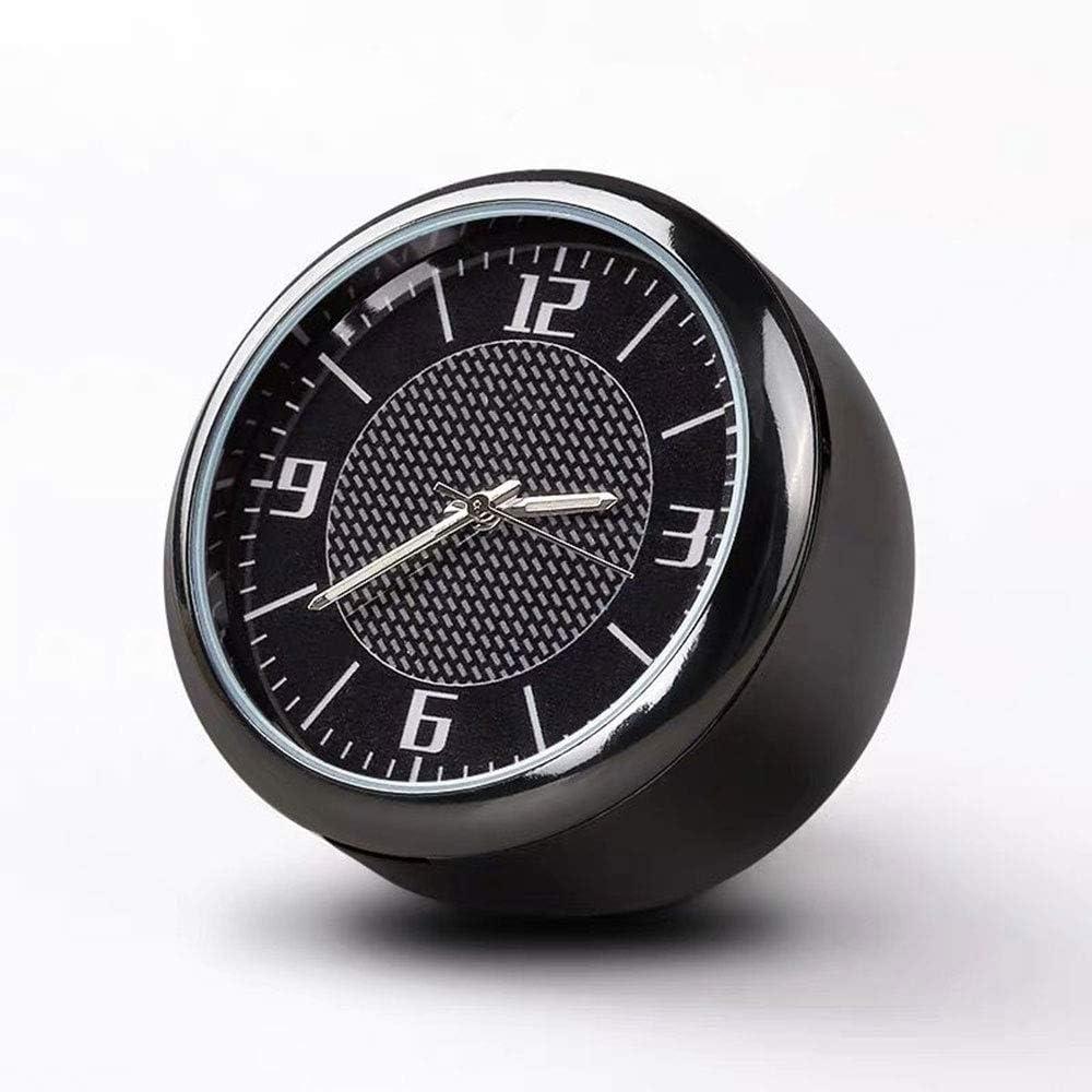Fitracker Voiture Air Vent Voiture Horloge Automobile Quartz Horloge Accessoires D/écoration Tableau Bord Horloge Lumineux Cadran avec Pince De Ventilation fit pour Auto