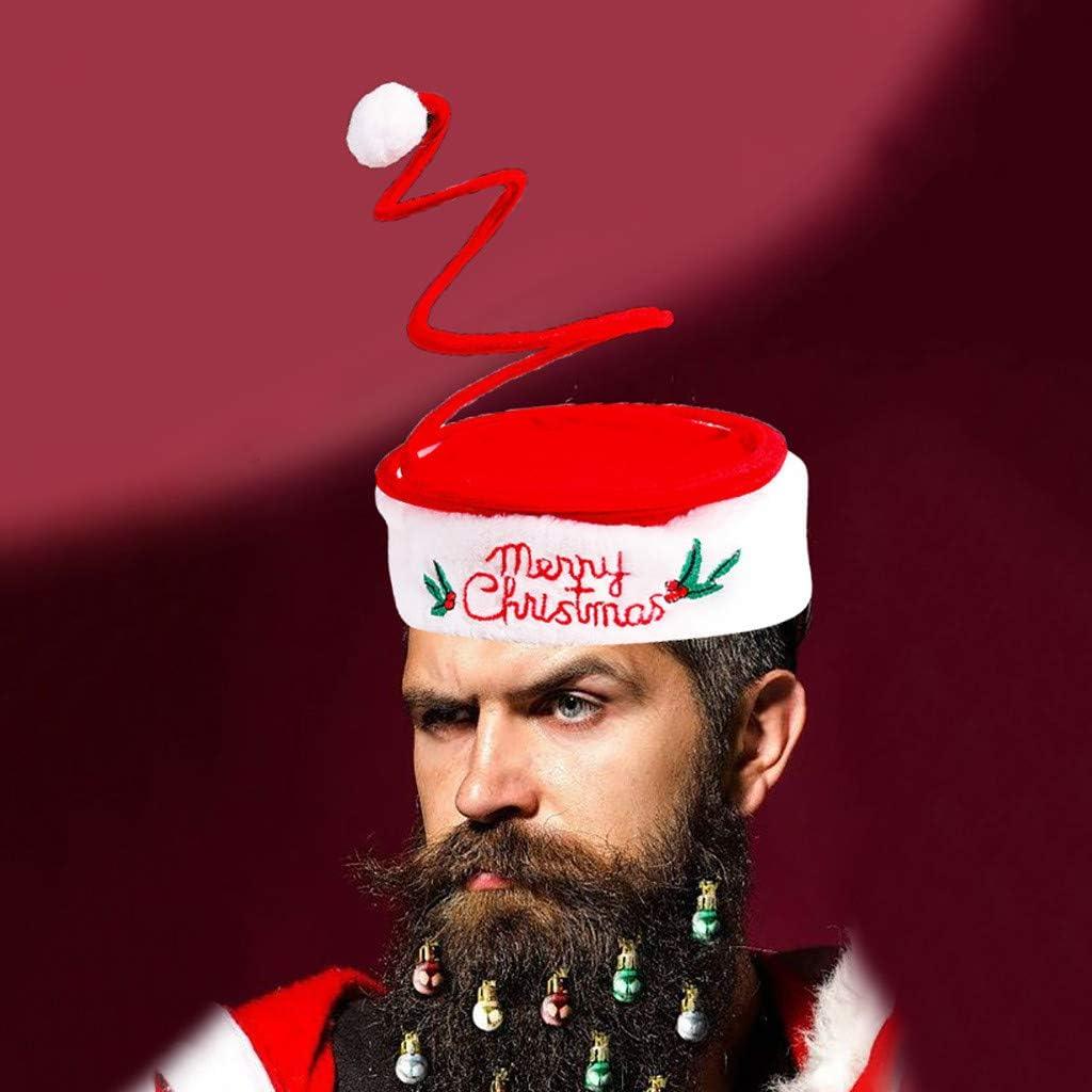 Men Funny Warm Knitted Beard Winter Hat Messy Hair Moustache Beanie Cap Hot Sale