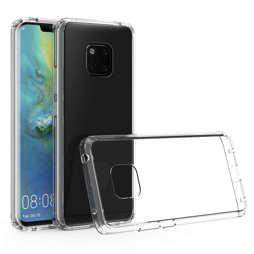 Fü r Huawei Mate 20 Pro Hü lle, Amuse-MIUMIU Transparent Weiche Silikon Ultradü nnen Flexibel Bumper Handyhü lle Durchsichtig TPU Kratzfest Schutzhü lle fü r Huawei Mate 20 Pro