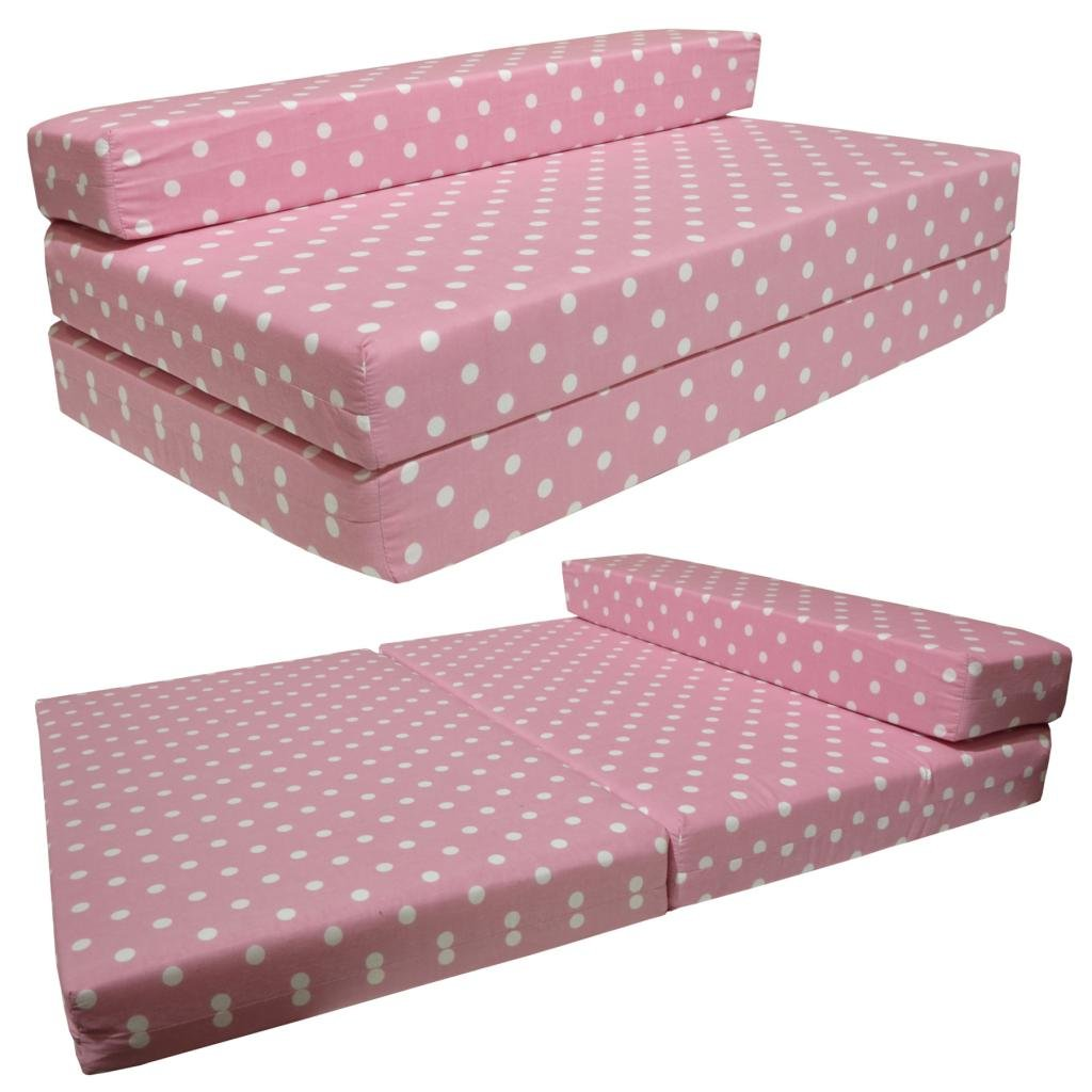 SOFABED - PINK SPOTS double Sofa bed chair futon: Amazon.co.uk: Kitchen &  Home