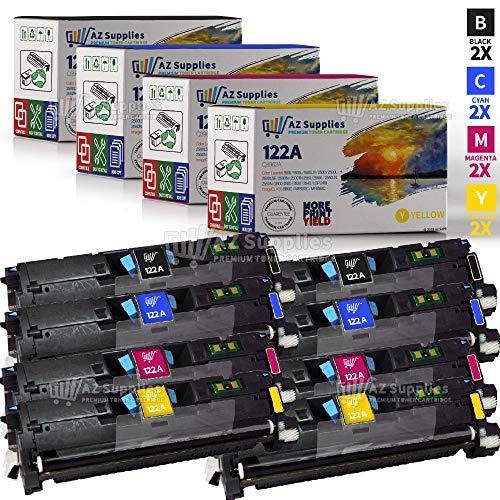 Az Supplies Compatible Toner Cartridge Replacement for HP 122A (Q3960A, Q3961A, Q3962A, Q3963A) 8 Pack - 2 Black / 2 Cyan / 2 Magenta / 2 Yellow