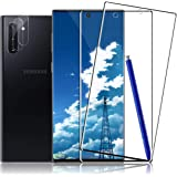 Galaxy Note 10 Plus Screen Protector + Camera Lens Protector [ 2 + 2 Pack ][Compatible Fingerprint] [Anti-Bubble] [Self…
