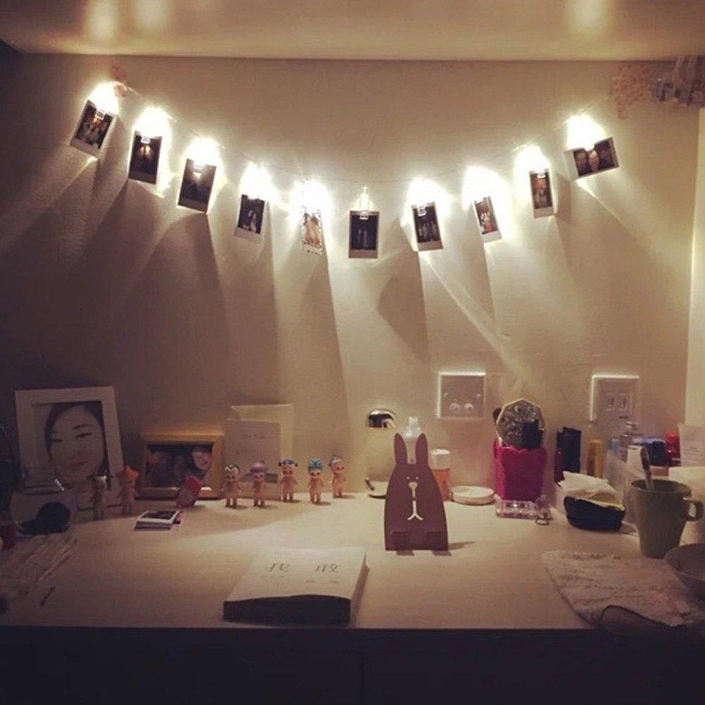Tomtopp Lights Clamp 20 Photo Clips Usb Led String Lamp Fairy Lights Xmas Home Decorwarm White