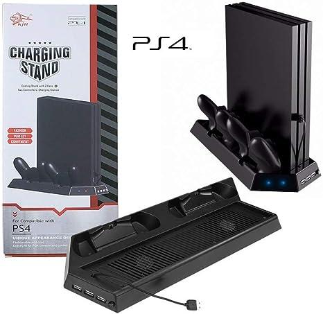 Base de Refrigeracion con dos Potentes Ventiladores para la Consola PlayStation 4 PS4 de Alsace&Concept con 3 Puertos USB de Carga Libre y 2 Estaciones de Carga Rapida Dual Shock: Amazon.es: Videojuegos