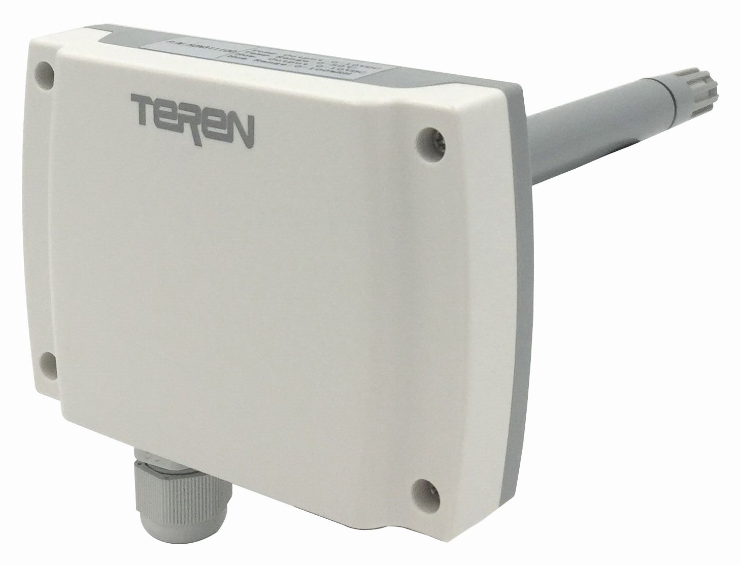 TEREN Duct Mount Temperature & Humidity Transmitter, H2N322100, 3% Accuracy, 4-20mA Output