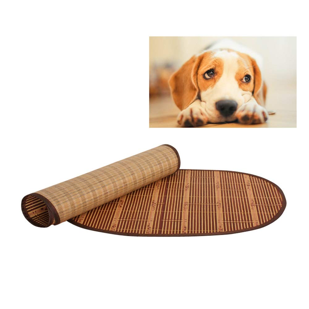 NO.5 Pet Cooling Sleeping Mat, Dog Cats Cooling Pad Cushion Cold Bed Bamboo Mat Ice Sleeping Mat Heat Dissipation Pad for Summer & Winter (Size   NO.5)