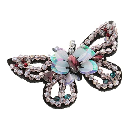3D Butterfly Applique Beads Rhinestone Embroidery Patch for Clothing Bag Decor