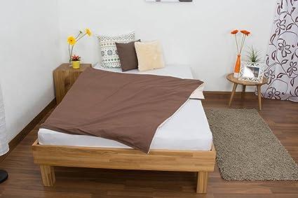 Estructura de cama madera 120 x 200 cm Roble.