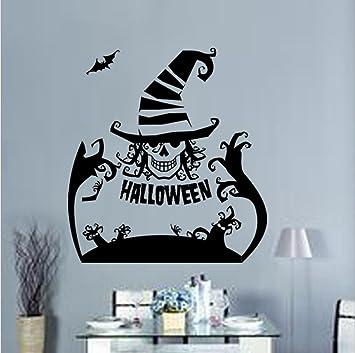 Halloween Stickers Aesthetic.Amazon Com Gymnljy Wall Stickers Halloween Wall Sticker
