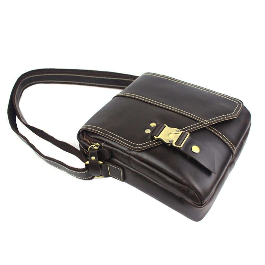 Genda 2Archer Leather Messenger Bag Bookbag Crossbody Bag Shoulder Sling Bag