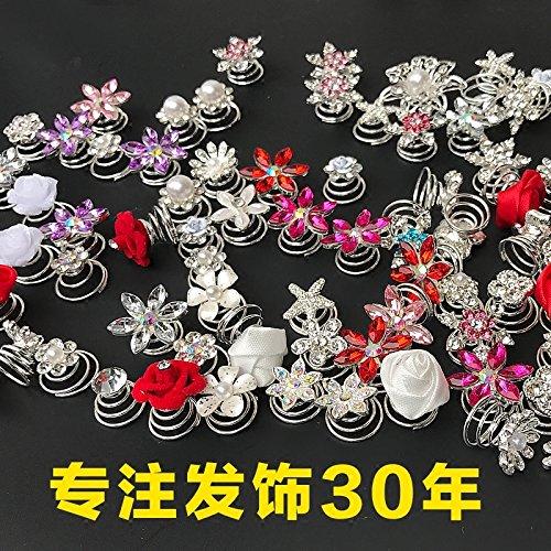 usongs Pearl spiral hair clip hair bud head disk plate made hair ornaments hair sticks hair tool tray ()