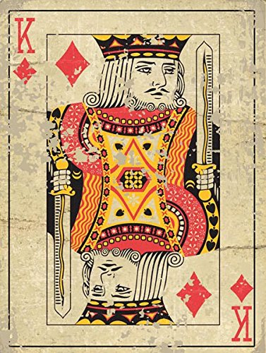 King Playing Card, Den, Gameroom, Mancave