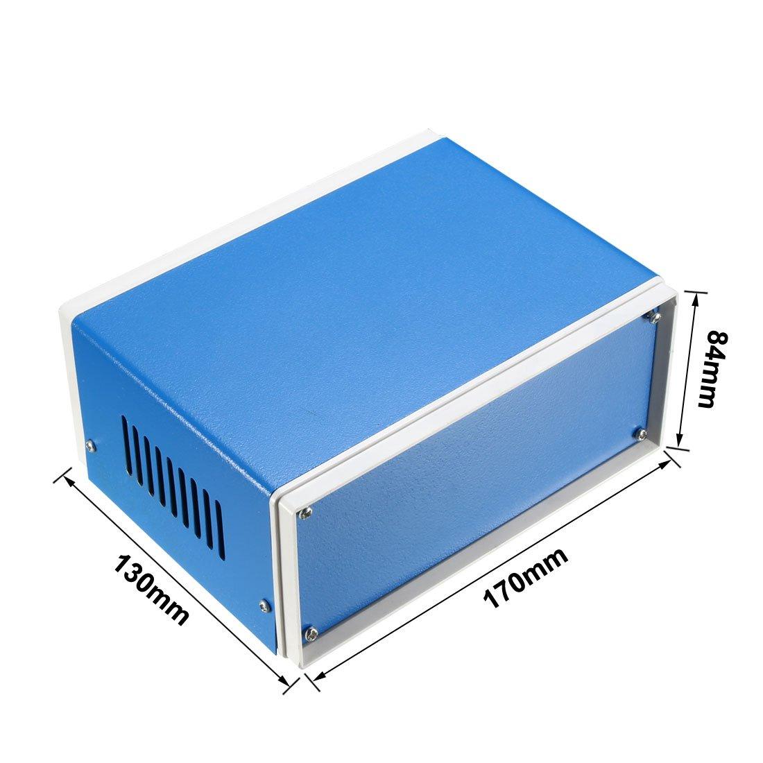 sourcingmap Metal Blue Project Junction Box Enclosure Case 200 x 165 x 90mm//7.87 x 6.5 x 3.54inch