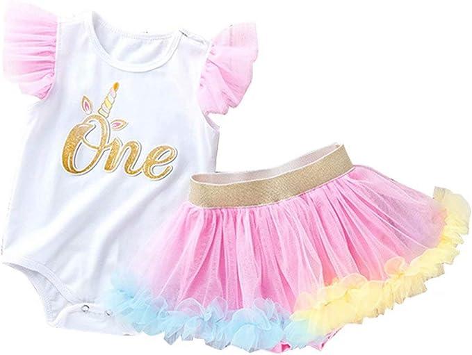 Leideur cumplea/ños del beb/é Tutu Falda Set 1 a 2 a/ños de Edad Regalos para Chica Multicolor-1, 9-12 Meses