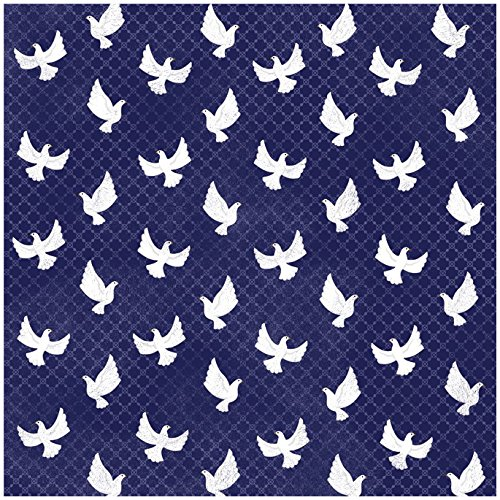 KAREN FOSTER Design 25 Sheets Scrapbooking Paper, 12'' x 12'', Peaceful Doves